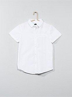 Camicie - Camicia maniche corte popeline cotone - Kiabi