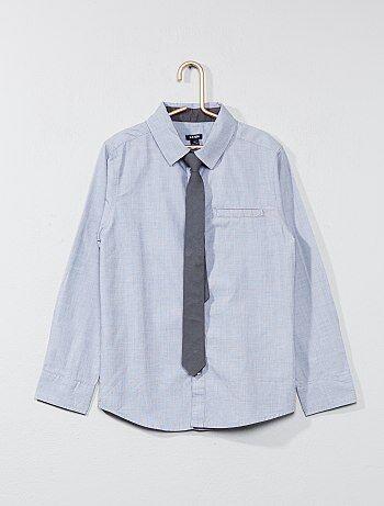 Camicia maniche lunghe + cravatta - Kiabi