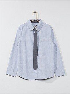 Camicie - Camicia maniche lunghe + cravatta - Kiabi