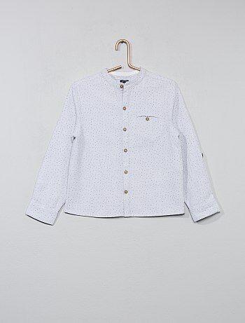 Camicia micro motivi collo alla coreana - Kiabi