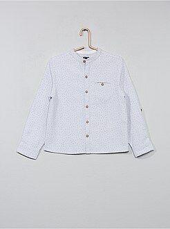 Camicie - Camicia micro motivi collo alla coreana - Kiabi