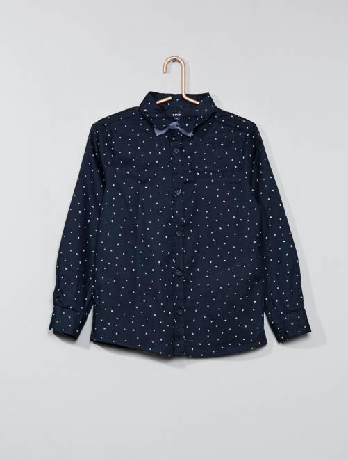 Camicia motivi e farfallino                             blu Infanzia bambino