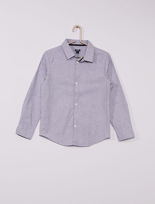 Camicia motivo jacquard                             grigio