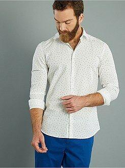 Camicie - Camicia popeline slim fit