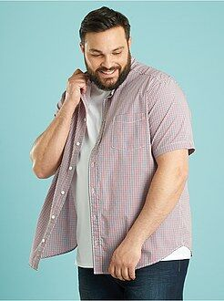 Camicie - Camicia popeline stampata taglio dritto