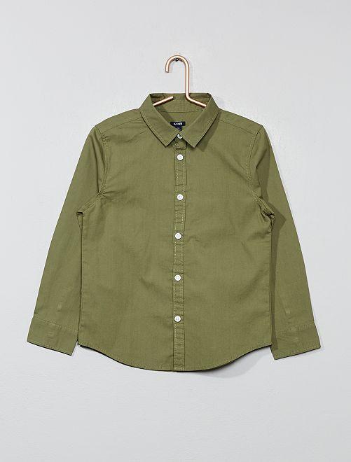 Camicia popeline                                                     verde licheno