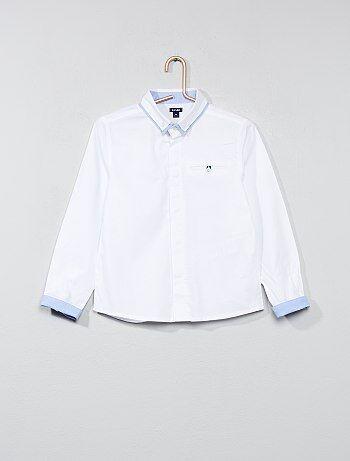 Camicia puro cotone testurizzato - Kiabi
