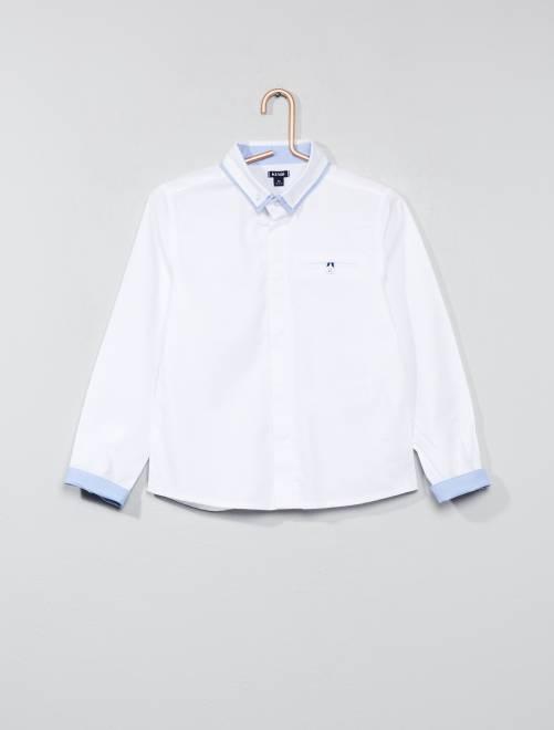 Camicia puro cotone testurizzato                             bianco Infanzia bambino