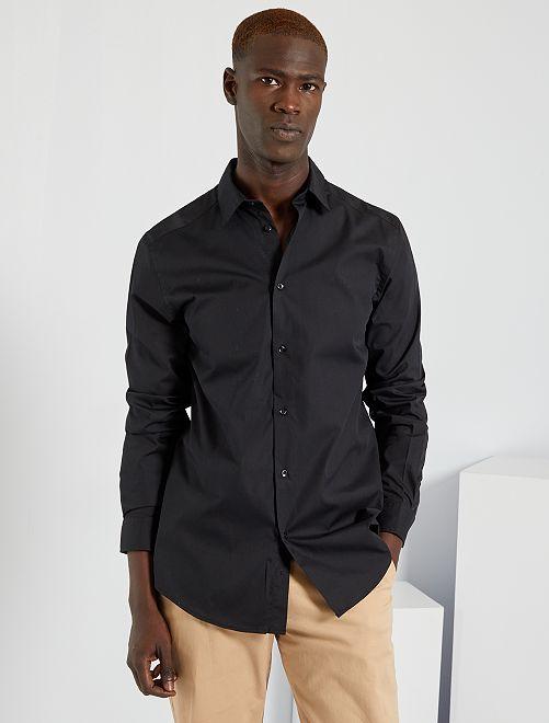 Camicia regular bianca                                         nero