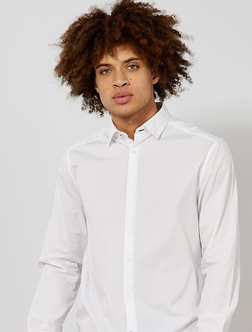 Camicia regular cotone                                         bianco Uomo