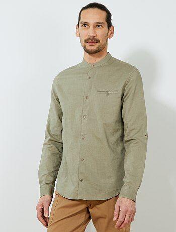 Camicia regular cotone e lino - Kiabi 027e59c4911e
