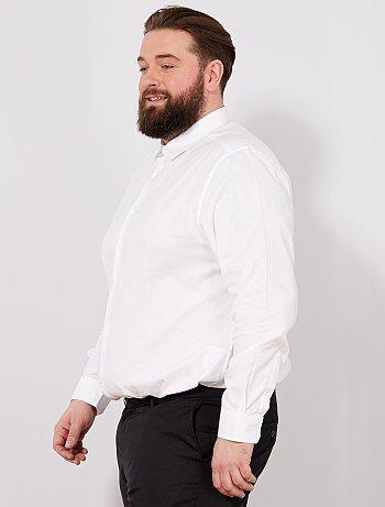 Taglie forti Uomo - Camicia regular cotone Oxford - Kiabi