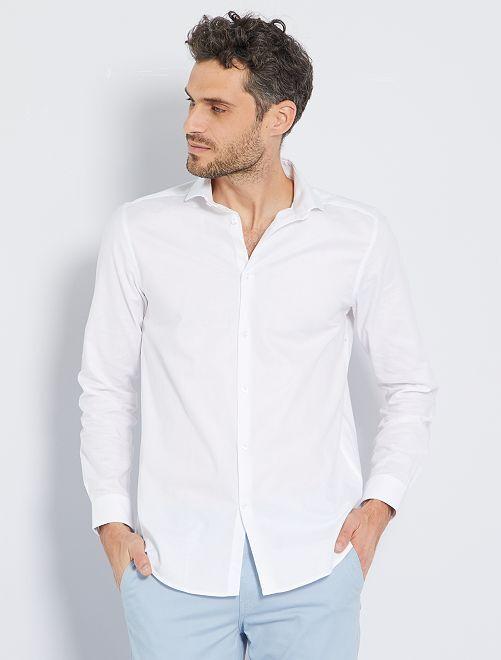 Camicia regular cotone Oxford                                                     BIANCO