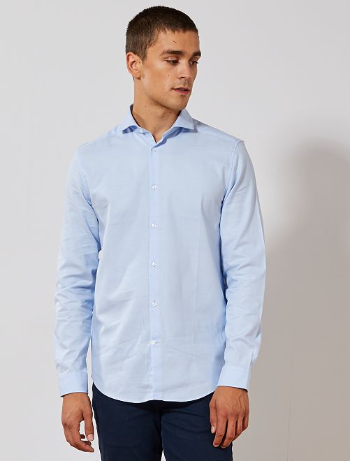 Camicia regular cotone Oxford                                                     BLU