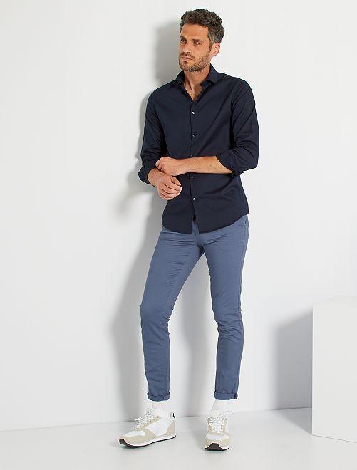 Camicia regular cotone Oxford                                                     BLU