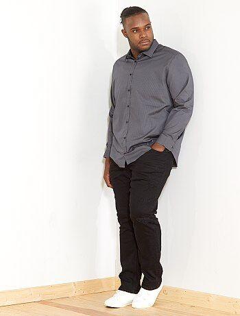 Camicia regular micro motivo - Kiabi