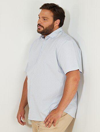 Taglie forti Uomo - Camicia regular pois - Kiabi