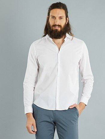 Camicia regular popeline a righe - Kiabi