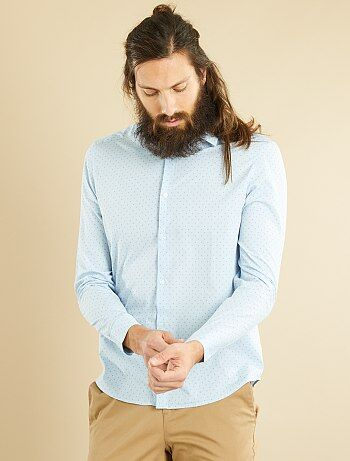 Camicia regular popeline micro motivo - Kiabi