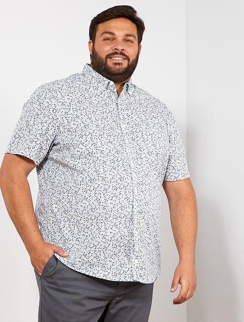 Camicia regular stampata                                                                             BIANCO