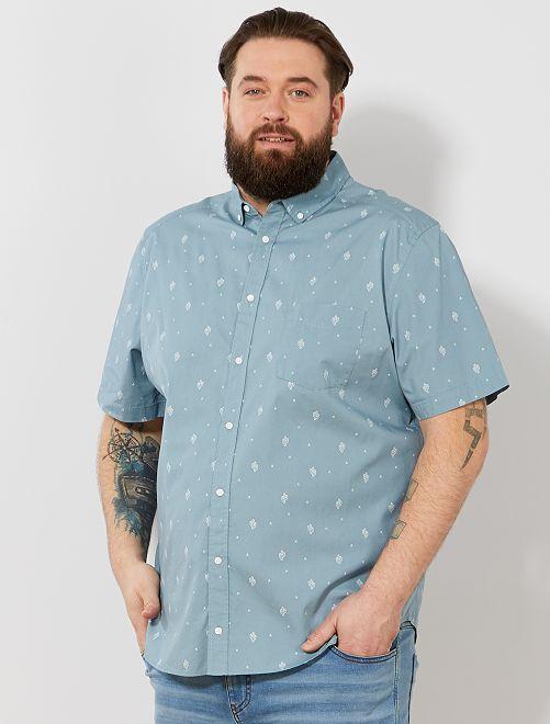 Camicia regular stampata                                                                                                                                         BLU Taglie forti uomo