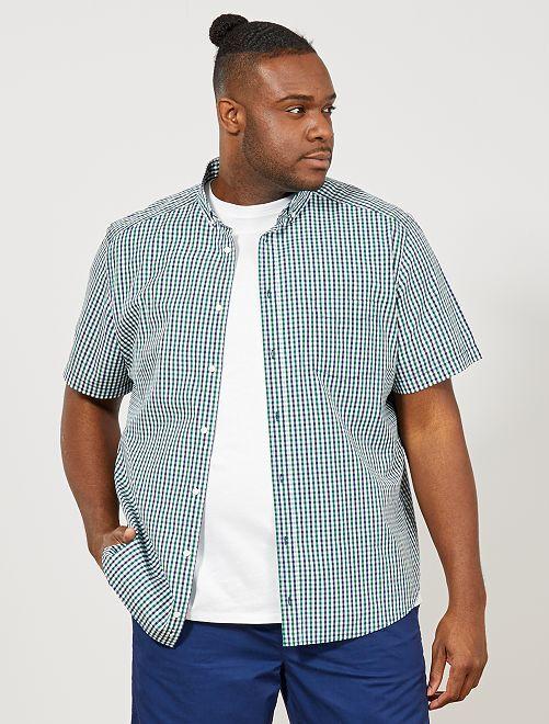 Camicia regular stampata                                                         VERDE