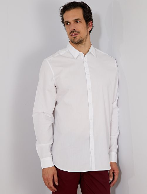 Camicia regular twill                                                     bianco