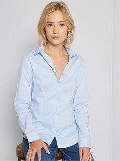 Camicia sciancrata popeline stretch