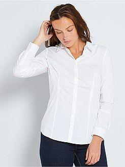Donna dalla 38 alla 52 Camicia sciancrata popeline stretch