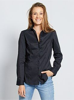 Camicie - Camicia sciancrata popeline stretch - Kiabi