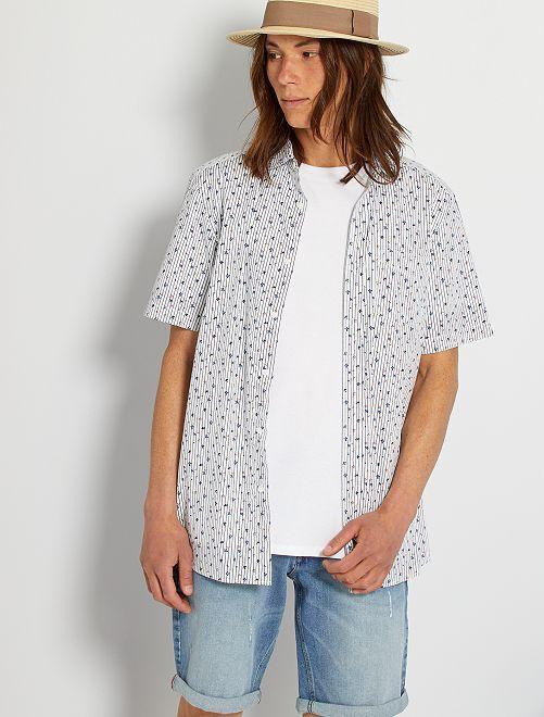 Camicia stampata                                                                                                                                                     BIANCO