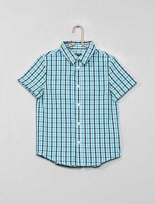 Camicia stampata                                                                                                     BLU