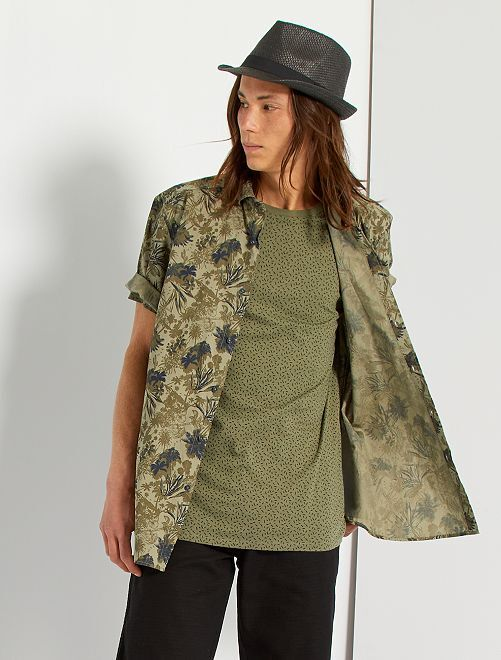 Camicia stampata                                                                                                                                                                             KAKI