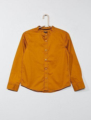 Camicia tinta unita popeline - Kiabi