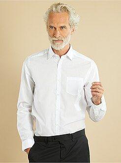 Camicie bianche - Camicia tinta unita taglio dritto