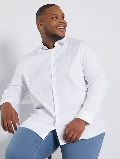 Camicia twill stretch                                         bianco