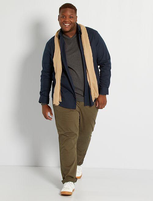 Camicia twill stretch                                                                 blu navy