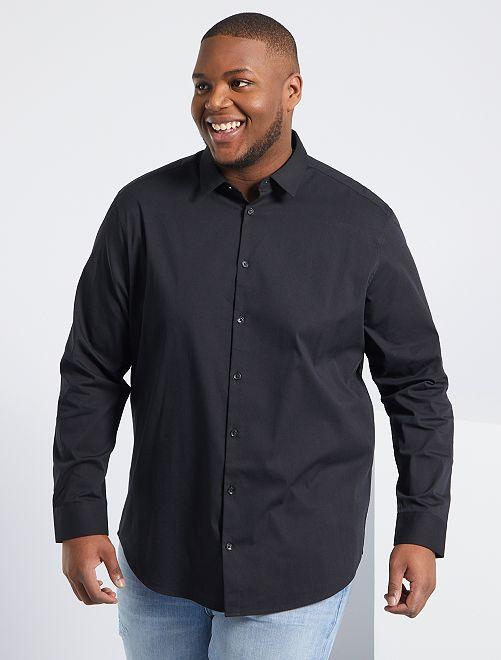 Camicia twill stretch                                         nero