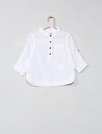 Camicia voile di cotone collo alla coreana - Kiabi