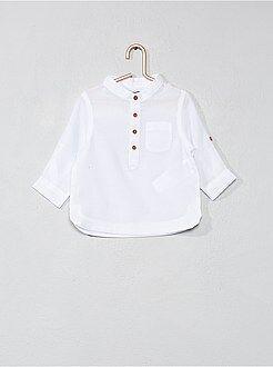 Camicie - Camicia voile di cotone collo alla coreana - Kiabi