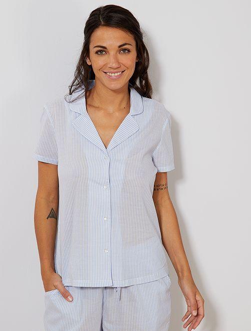 Camicia voile di cotone                                         viola lavanda Intimo dalla s alla xxl