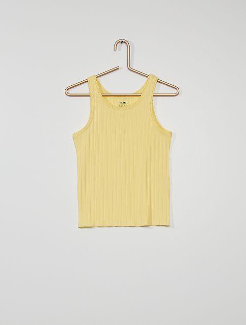 Canotta eco-sostenibile                                                                 giallo dorato