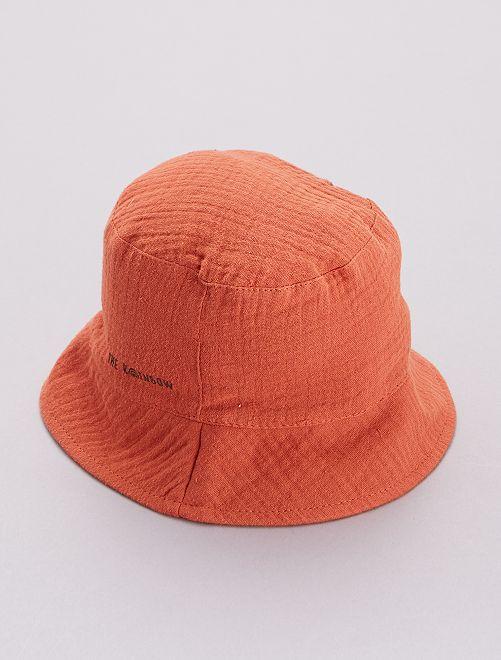 Cappellino bob                             rosso mattone