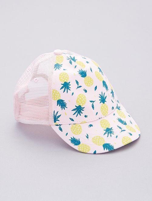 Cappellino con stampa ananas                             BLU