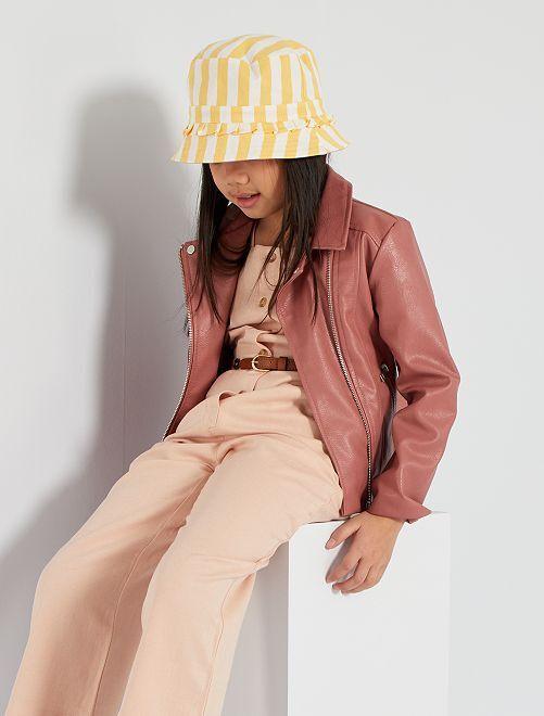 Cappellino double face                             giallo/rosa