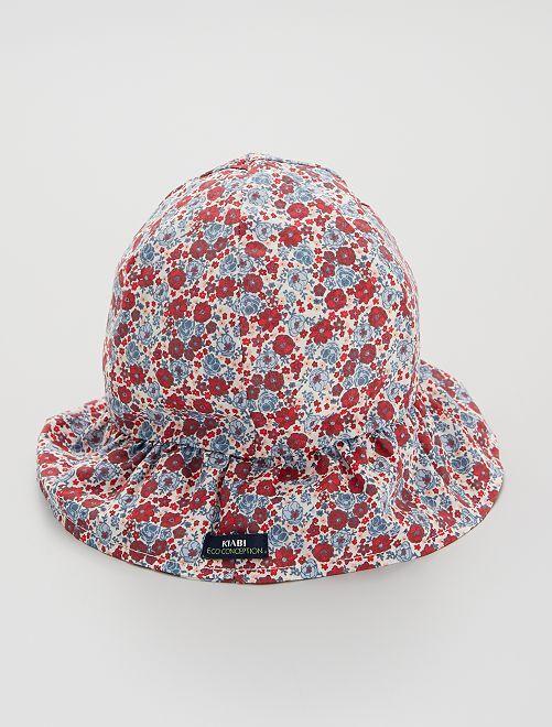 Cappellino 'floreale' in cotone                             BEIGE