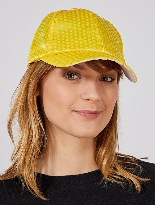 Cappellino paillette fluorescenti                                                     giallo