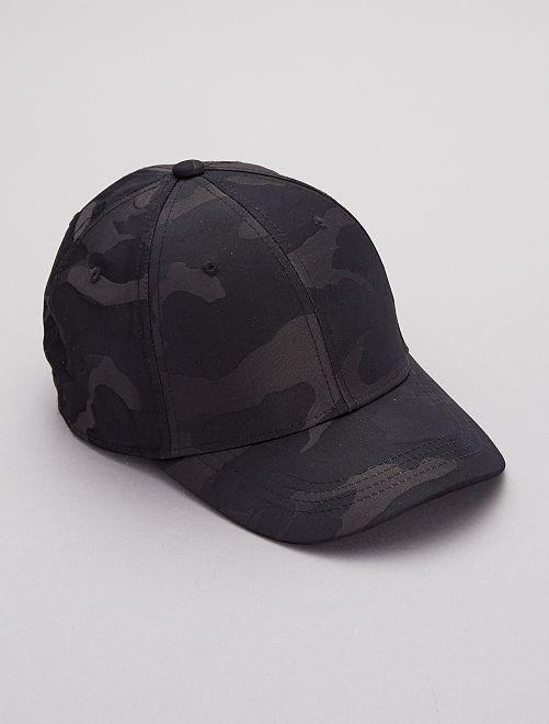 Cappellino stampa 'mimetica'                             nero Uomo