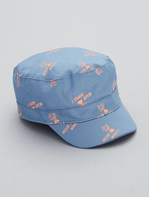 Cappellino stampato                             blu denim Neonato