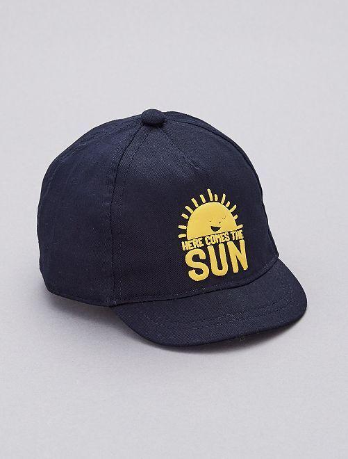 Cappellino stampato                                                     blu Neonato